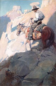 Whispering Smith rode slowly... - N.C. Wyeth 1908