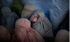 This photograph of refugees in a camp in Pakistan featured at the War Photo Ltd gallery in Dubrovnik, Croatia. Photograph: Emilio Morenatti/AP