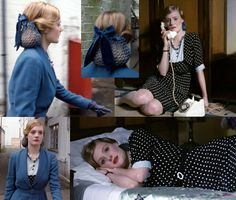 The Butterfly Balcony: Fabulous Film Fashions - Glorious 39. Beautiful blue and velvet snood.