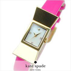 Chocky Pink Kate Spade --> Women's Watch Carlyle Bow Pink Leather Swarovski MOP 1YRU0137 #KateSpade #LuxuryDressStyles