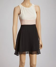 This Pink & Black Color Block Dress is perfect! #zulilyfinds