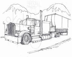 "Printable 8"" x 10"" Kid's Colouring Page - Truck    #Printable #Colouringpage"