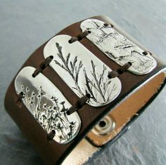 Stamped metal nature cuff layout inspiration