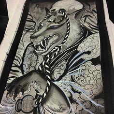 Quick kitsune painting #tattoo#tattoos#tattooart#tattoopainting#orientalart#orientaltattoo#asianart#asiantattoo#japaneseart#japanesetattoo#kitsune#brighton#brightontattoo#