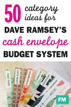 50 Cash Envelope Category Ideas I started using the Dave Ramsey's cash envelope system for budgeting recently, and it's a game changer! I love anything that makes life a little simpler, and cash envelopes make budgeting SO easy. *Disclosure: This post may Envelope Budget System, Cash Envelope System, Dave Ramsey Envelope System, Cash Envelope Budget, Budget Envelopes, Money Envelopes, Budgeting Finances, Budgeting Tips, Budgeting Worksheets