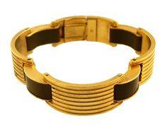french machine age bracelet | French Machine Age Bakelite Bracelet, Ca. 1939. Reverse of bracelet is ...