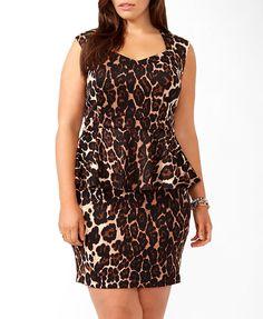 Leopard Peplum Dress | FOREVER21 PLUS - 2030298240