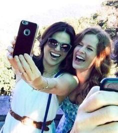 Awesome Lana and Bex (Rebecca) taking an awesome selfie together at awesome Butler's Creek in Rio de Janeiro Brazil Monday 6-29-15