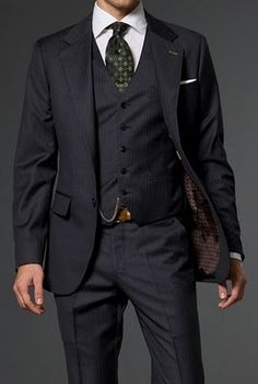 Mad Men Suit Navy. Visit www.karenannletti... for more styling information and tips!