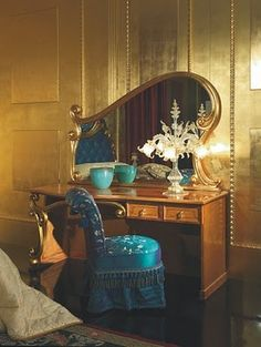 Art Nouveau Vanity and fabulous mirror