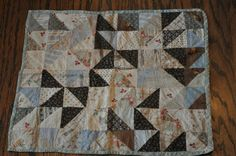 I found this small quilt at an antique store for twelve dollars!! Just had to get it!!