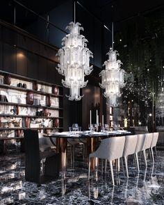 News and Trends from Best Interior Designers Arround the World Minotti Furniture, Luxury Furniture, Luxury Dining Room, Dining Room Design, Dining Rooms, City View Apartment, Deco Addict, Contemporary Interior Design, Cuisines Design