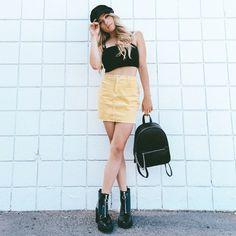 970932bf7 Petite Yellow Seam Trim Leather-Look Mini Skirt | New Look | Fashion in  2019 | Yellow leather skirt, Leather look skirts, Yellow mini skirt