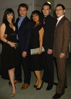 Torchwood team: Eve Myles, John Barrowman, Naoko Mori, Gareth David-Lloyd, and Burn Gorman.