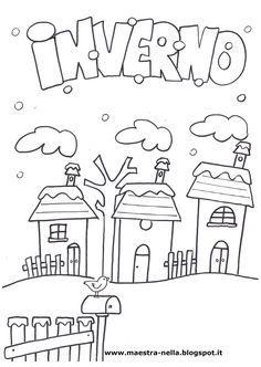 disegni, idee e lavoretti per la scuola dell'infanzia... e non solo Winter Crafts For Kids, Winter Kids, Winter Christmas, Diy For Kids, Doodle Coloring, Coloring Pages, Cute Calendar, D Book, Paper Animals