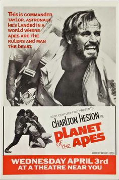 Planet of the Apes (1968) — Charleton Heston  as 'Commander George Taylor'