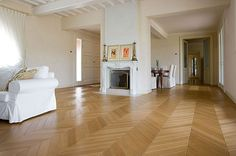 Fishbone style parquet Hardwood Floors, Flooring, Sweet Home, New Homes, Living Room, Interior Design, Projects, House, Home Decor