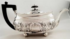 Georgian silver teapot by Alice & George Burrows London 1809