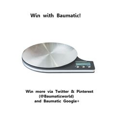 Win 1 of 3 Baumatic Digital Scales! Baumatic Goody Bag for 2 runners up! To be in with the chance of winning, re-pin a Baumatic Home Appliance Pin & let us know that you have done so by emailing us at marketing@baumatic.co.uk. If you can, please do share the Comp with your friends! The winners will be emailed early next week! Good luck!