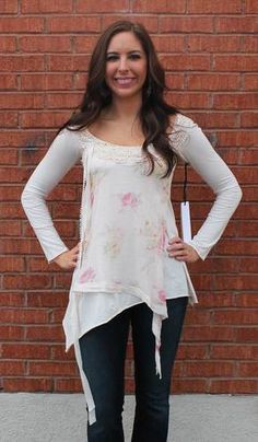 4 Love and Liberty - Floral Winter Top