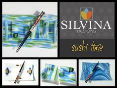 sushi glass fusing plates