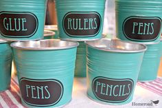 Back to School Organizers with awesome vinyl labels! http://www.homeroad.net/2013/08/back-to-school-organizers.html #backtoschool