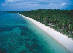 white sand beach in Ambon
