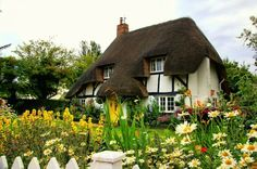 English Thatched Roof Cottage