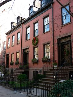 Federal style row houses