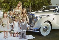 The Jaguar Mark 5 convertible was used for a photo shoot with the Sunday Times Magazine for a wedding fashion feature