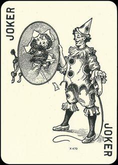 Joker Joker Playing Card, Joker Card, Unique Playing Cards, Joker Clown, French Flowers, Pierrot, Vintage Circus, I Card, Tarot