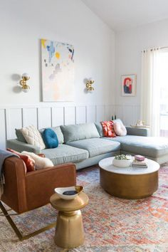 Big Reveal: Finally Sharing Our Finished Living Room Makeover! Big Reveal: Finally Sharing Our Finis Eclectic Living Room, Cozy Living Rooms, My Living Room, Living Room Interior, Home And Living, Living Room Designs, Living Room Decor, Modern Living, Small Living