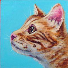 Portrait animalier personnalisé acrylique peint à la main peinture animaux de compagnie à animal portrait pop art personnalisé peinture animalière, peinture acrylique sur une toile en bois de 8 x 8