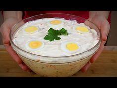OROSZ SALÁTA - minden ünnepi asztal királynője - YouTube Serbian Recipes, Serbian Food, Ruska Salata, Salad Sandwich, Breakfast, Queen, Yummy Yummy, Soups, Sandwiches