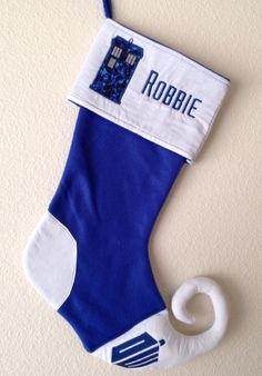 Custom Doctor Who Curly Toe Stocking  Dr Who  Christmas by Aaylas, $30.00