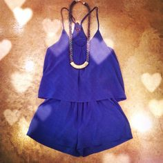♡Sapphire blue Romper!♡