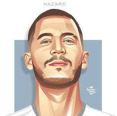 Football Soccer, Football Players, Football Drawings, Football Player Costume, Hazard Real Madrid, Eden Hazard, Isco, Illustration Sketches, Lionel Messi