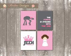 Princesa Leia vivero arte Set descarga por montrosedesigns en Etsy