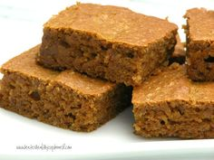 Grain Free Pumpkin Bars  (sugar free option)  www.kateshealthycupboard.com
