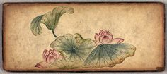 lotus flowers in Buddhist sketch album