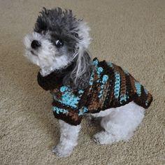 Crochet+Sweater+Patterns | Crochet Small Dog Sweater pattern is a quick and easy crochet pattern ...