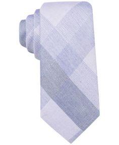 Ryan Seacrest Distinction™ Men's Sacremento Plaid Slim Tie, Only at Macy's