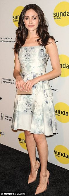 Demure to racy: Emmy Rossum was pretty in a floral frock, while Keri Russell took the plunge in a racy dress at a Sundance Institute event in NYC on Wednesday