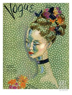 Vogue Cover - July 1935 Regular Giclee Print by Cecil Beaton at Art.com