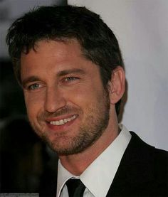Radiant smile, Gerard Butler, male actor, beard, celeb, powerful face, cute smile, macho, intense eyes, elegant, stylish, portrait, photo