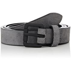 Barneys New York Men's Suede Belt (133975 IQD) ❤ liked on Polyvore featuring men's fashion, men's accessories, men's belts, grey, mens grey leather belt, mens leather belts, mens grey belt, mens gray belt and mens belts