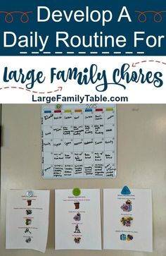 Develop A Daily Routine For Large Family Chores - Large Family Table - Health and wellness: What comes naturally Laundry Schedule, Family Schedule, Kids Schedule, Large Family Organization, Family Organizer, Scandal, Chore System, Family Chore Charts, Chores For Kids