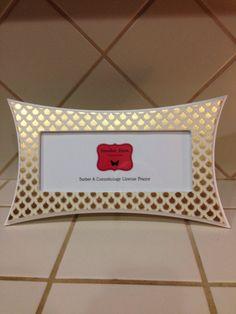 barber cosmetology license frame white gold foil sunburst fits 8 12 x 3 58 business certification