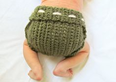 Super simple crocheted wool diaper cover soaker pattern