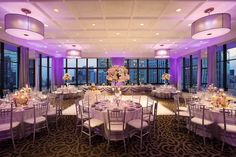 Imagine your wedding reception in our 39th Floor Penthouse Ballroom surrounded by floor-to-ceiling views of the city! www.wyndhamgrandchicagoriverfront.com
